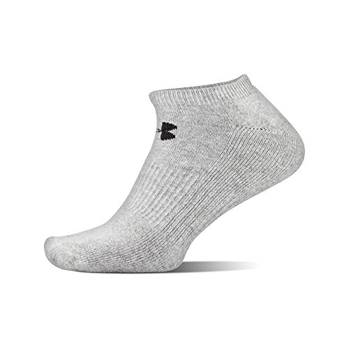 Under Armour Charged Cotton 2.0 No Show Socks, 6 Pairs, True Gray Heather Assorted, x Large by Under Armour (Image #4)
