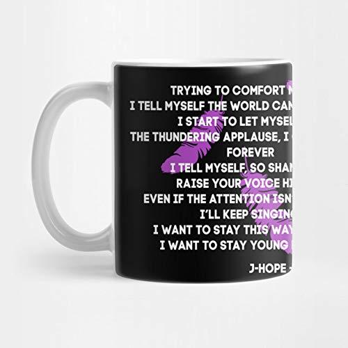 Amazon com: BTS English Lyrics J-Hope Young Forever Mug