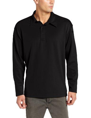 Propper Men's I.C.E Men's Long Sleeve Performance Polo Shirt, Black, 3X-Large Regular (Mens 3x Long Sleeve Polo Shirts)