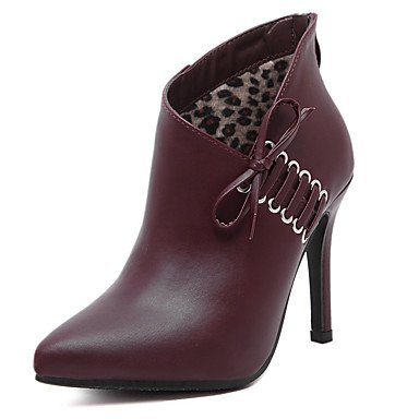 Winter Toe Heel UK4 Booties Combat Shoes EU36 Pointed For Bootie Leatherette Ankle Zipper CN36 Boots Stiletto Fashion Up Women'S Boots US6 Boots Boots Lace RTRY OnC6wPtqxP