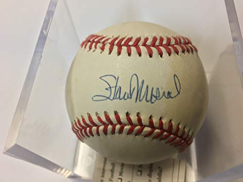 (Stan Musial Autographed Baseball Upper Deck Authenticated Certified Authentic)