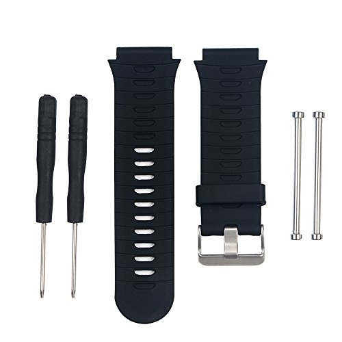 AUTRUN Band for Garmin Forerunner 920XT Watch, Silicone Wristband Replacement Watch Band for Garmin Forerunner 920XT (Black)