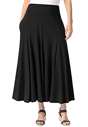 Women 39 s plus size petite travel collection knit skirt at amazon women s clothing store for Travel pants petite