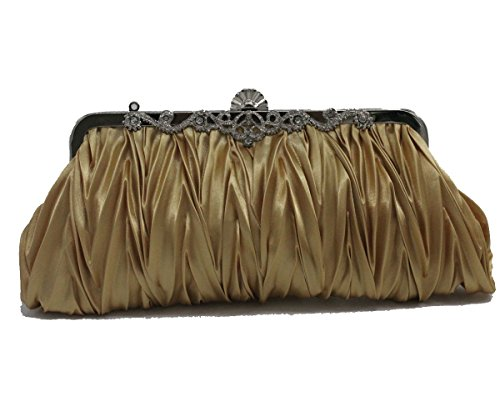 - Kingluck Silk Cocktail Evening Handbags/Clutches in Gorgeous Silk More Colors Availabl (gold)