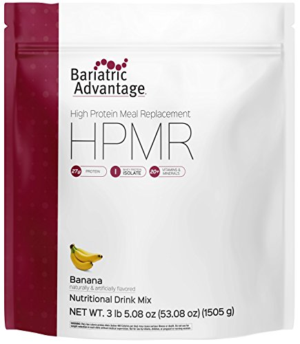 Shake Mix Banana - Bariatric Advantage - Meal Replacements - Banana, 35 Serving Bag