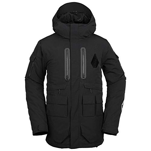 Volcom Men's Lynx 2 Layer Insulated Snow Jacket, Black Medium