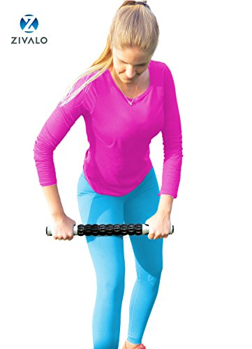 Zivalo-Body-Massage-Stick-Top-Rated-Sports-Massage-Tool-for-Instant-Relief-of-Muscle-Pain-Tightness-and-Cramps-in-Legs-Back-Arms-and-Neck-Our-Myofascial-Muscle-Roller-Stick-offers-a-Professional-Grade