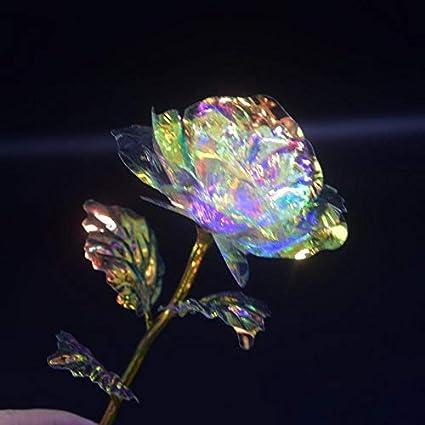 Rosa galassia luminosa con base damore festa della mamma Base No Light rose luminose regalo per San Valentino