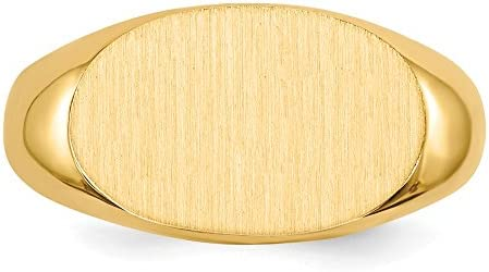 Men's 14k Yellow Gold Signet Ring, Size 10