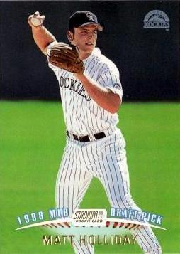 1999 Topps Stadium Club Baseball 341 Matt Holliday Rookie Card At