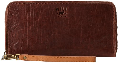 Leather Will Imogen Checkbook Clutch Cognac XxRqdw