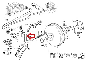 amazon bmw e39 540i 1997 brake booster hose vacuum pipe line GM Vacuum Diagrams amazon bmw e39 540i 1997 brake booster hose vacuum pipe line automotive