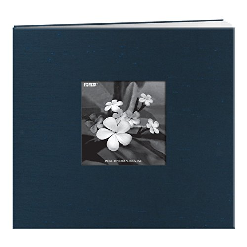 Pioneer Postbound Silk Fabric Frame Cover Memory Book, Lagoon (Time Postbound Album)