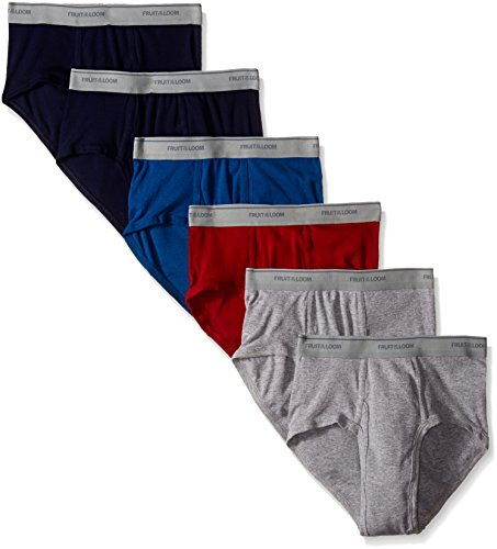 Fruit of the Loom Men's Fashion Brief (Pack of 6),Solids, Large