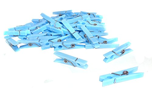 ACI PARTY AND SPIRIT ACCESSORIES 144 Piece Mini Plastic Clothespin with Spring, Blue
