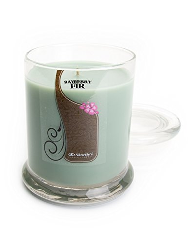 Bayberry Fir Candle - 10 Oz. Highly Scented Green Jar Candle - Christmas Candles (Bayberry Jar Candle)