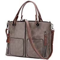 Women Top-Handle Handbags, Stylish Leather Bag, Fashion Shoulder Crossbody Bags Big Purse