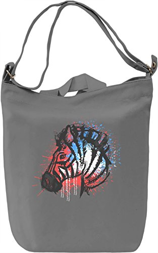 Colourful Zebra Borsa Giornaliera Canvas Canvas Day Bag| 100% Premium Cotton Canvas| DTG Printing|