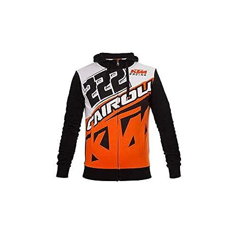 nuovo di zecca e94dd 861bb Tony Cairoli 222 Moto Cross Racing KTM Felpa con Cappuccio ...