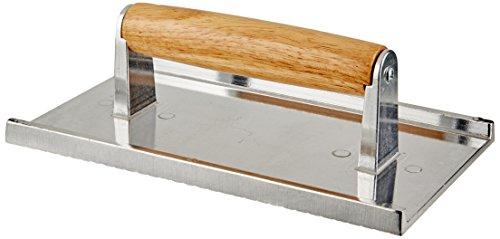 Winco SWA-5 Cast Aluminium Steak Weight, 5.25-Inch by 9-Inch