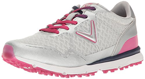 Callaway Women's Solaire Golf Shoe - Grey/Pink - 10 B(M) US
