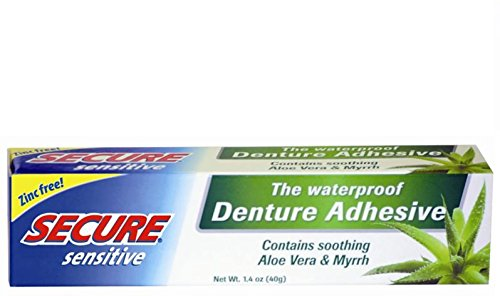 Secure Sensitive Denture Adhesive, 1.4 oz (Pack of 7) by Secure