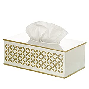 Diamond lattice tissue box cover rectangular for Bathroom napkin holder