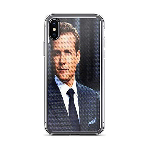 iPhone X Case iPhone Xs Case Clear Anti-Scratch Shock Absorption Harvey Specter - Suits, Harvey Cover Phone Cases for iPhone X/iPhone Xs]()