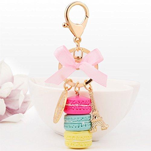 Bead Dessert - UNKE Girls Cake Dessert Beads Keyring Keychain For Women's Bag Wallet Handbags