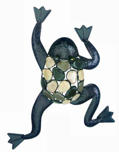 Gardman 8423 Climbing Frog with Natural Stones Wall Art, 15