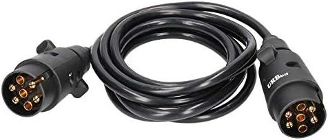 AB Tools Spia rimorchio Elettrico prolunga da 2,5 m di Cavo Maschio Maschio 7 Pin Tappi