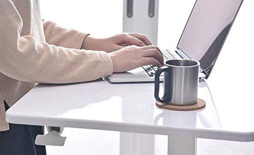 YULUKIA 100001 Armoire rectangulaire facile à manipuler, réglable en hauteur avec une touche de gaz, bureau rectangulaire, bureau assis et debout, table à café, bureau de jeu parfait, station de trava