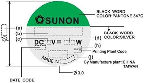 Ventilator Fan 24V 1,68W 60x60x25mm 39,9m/³//h 34,5dBA ; Sunon EE60252B1-A99