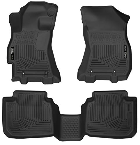 (Husky Liners 99671 Black Weatherbeater Front & 2nd Seat Floor Liners Fits 2015-2019 Subaru Legacy, 2015-2019 Subaru Outback)
