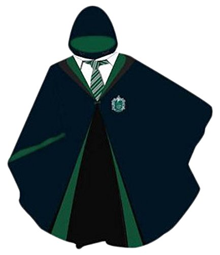 Adult Harry Potter Slytherin Robe (Harry Potter House Slytherin Adults Rain Pancho)