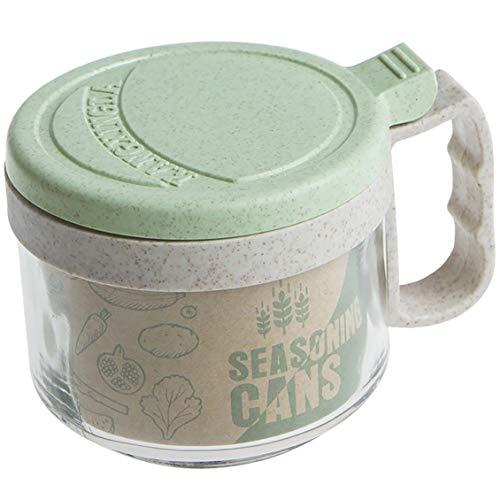 281-16-815 Glass Seasoning Rack Spice Pots Condiment Jars Cruet with Lid