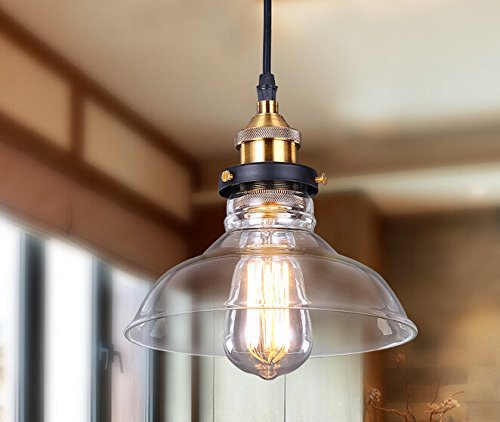 industrial kitchen lighting. Lightess Glass Pendant Light Industrial Hanging Ceiling Lamp With Edison Bulb Fixtures And Shade 1 Kitchen Lighting
