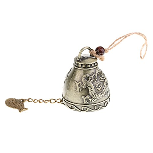 Baoblaze Exquisite Oriental Style Fortune Hanging Wind Chime Jingle Bell Collectibles Souvenir Craft (Oriental Bell)