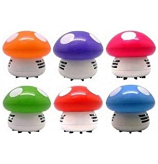 1 X Makhry New Portable Cute Mini Mushroom Corner Desk Table Dust Vacuum  Cleaner Sweeper (