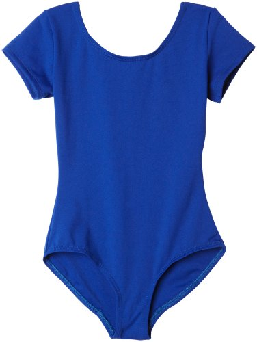 Royal Blue Leotard (Capezio Big Girls' Classic Short Sleeve Leotard,Royal,L (12-14))
