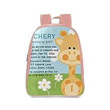 Farmost Giraffe First Birthday Backpack Pink School Bags Travel Bag for Kids Medium