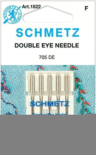 Double Eye Machine Needles-Size 12/80 5/Pkg ()