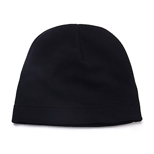Hat Lightweight Soft Warm Winter Beanie Skull Cap-Black (Fleece Lightweight Cap)
