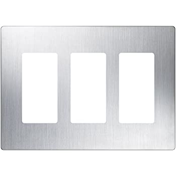 Lutron Cw 3 Ss 3 Gang Clarowall Plate Stainless Steel
