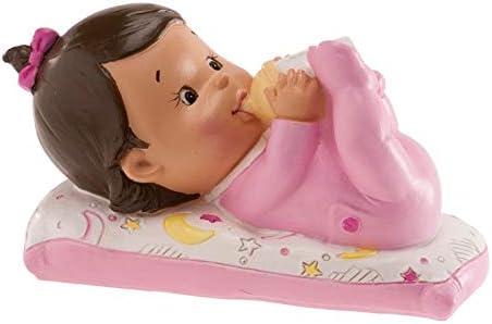 Petite Fille comme Cadeau pour Le bapt/ême ou la Naissance Dekora Figurine Topper pour Le g/âteau en r/ésine