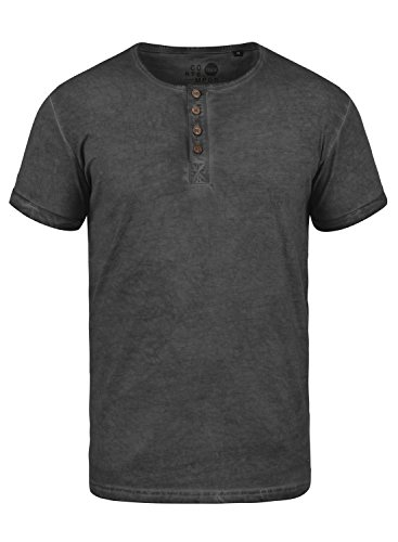 Chemise Pour shirt T 100 Tihn 9000 Manches À solid Courtes Homme Black Coton 40YgqW