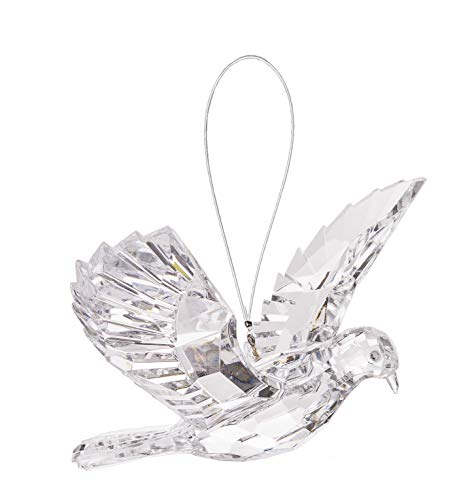 Ganz 7 inches Hanging Clear Dove Acrylic Ornament -