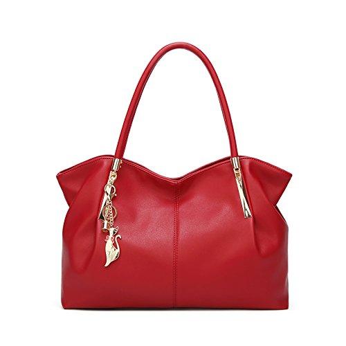 Tisdaini borsetta borsa borse a spalla borse a tracolla donna borse in pelle donna Rosso