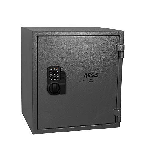 1.74 CF Fireproof Electronic Security Safe Cabinet- Cabinet Safe Lock Boxes with Keypad Lock and Keys Cash Money Jewelry…