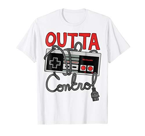 Nintendo NES Controller Outta Control Graphic T-Shirt